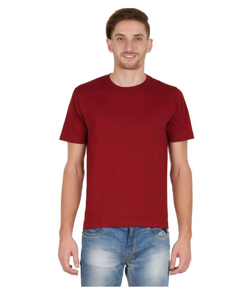 All Times Maroon Round T Shirt