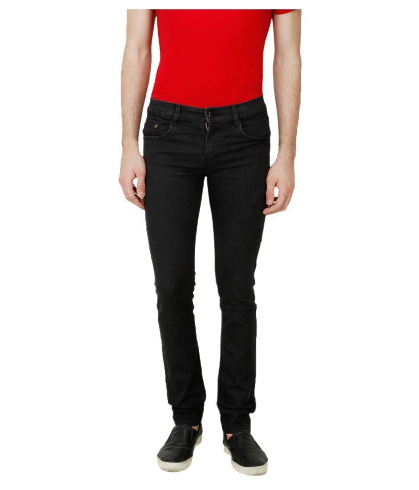 Ansh Fashion Wear Black Regular Fit Solid Jeans