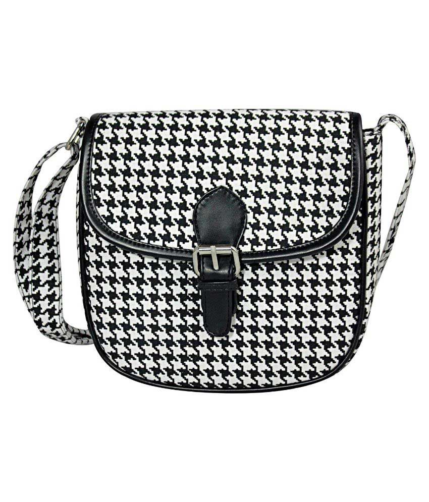 Hanso Collection Multi Fabric Shoulder Bag
