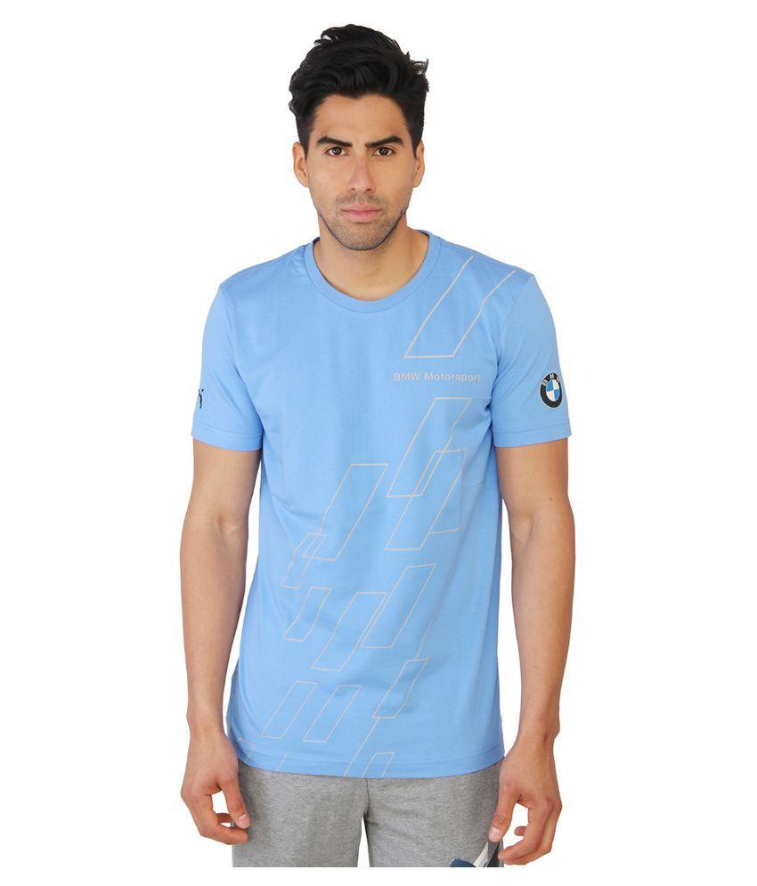 Puma Blue Round T Shirt