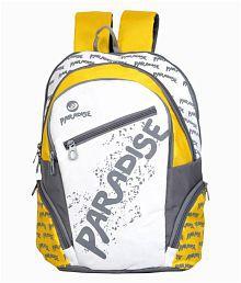 Paradise White School Bag for Boys