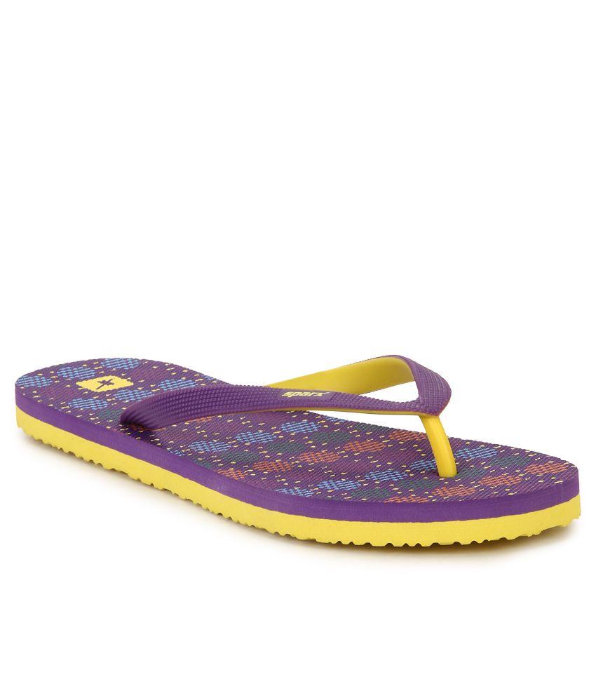 Sparx Purple Flip Flops