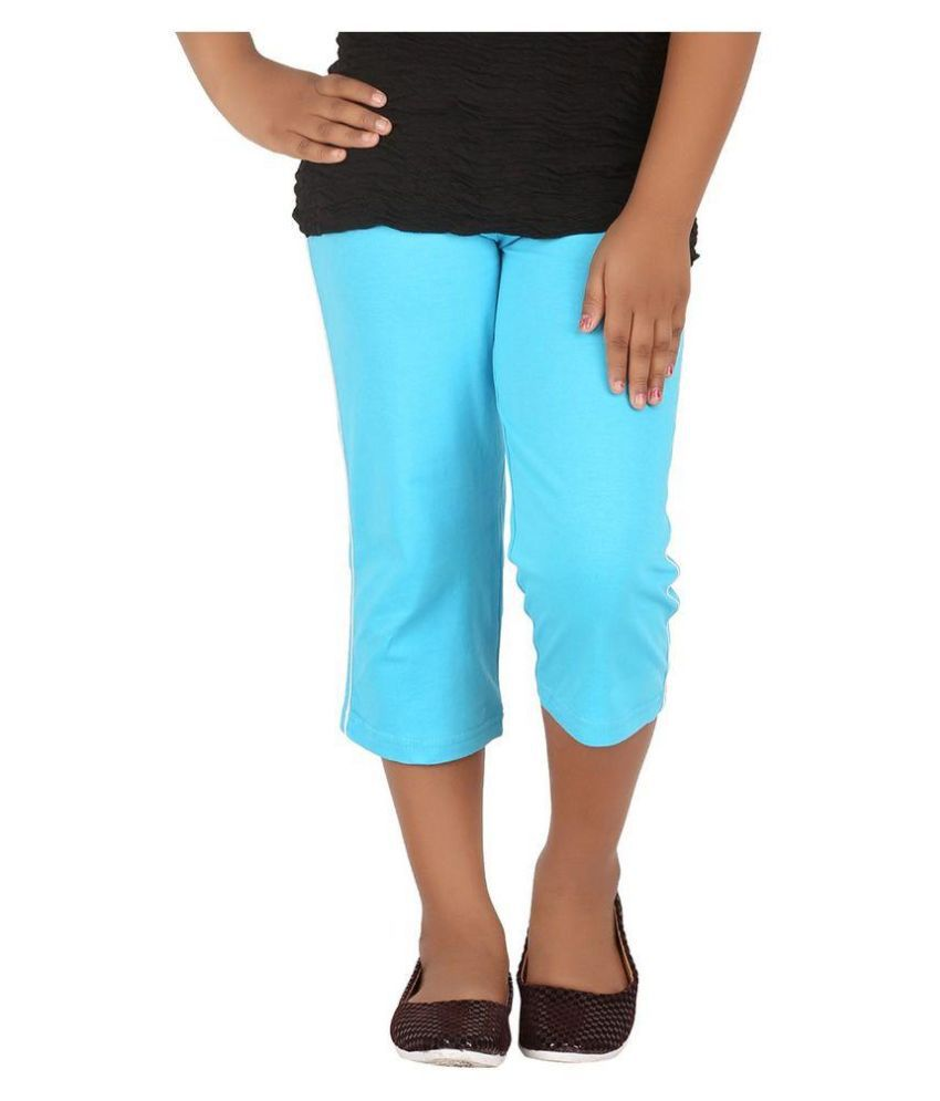 Minnow Blue Capris For Girls