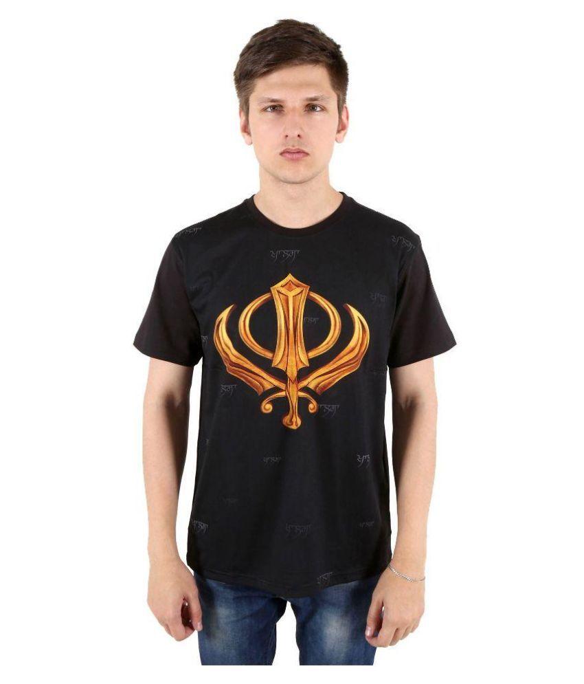 Punjabi Heritage Black Round T Shirt