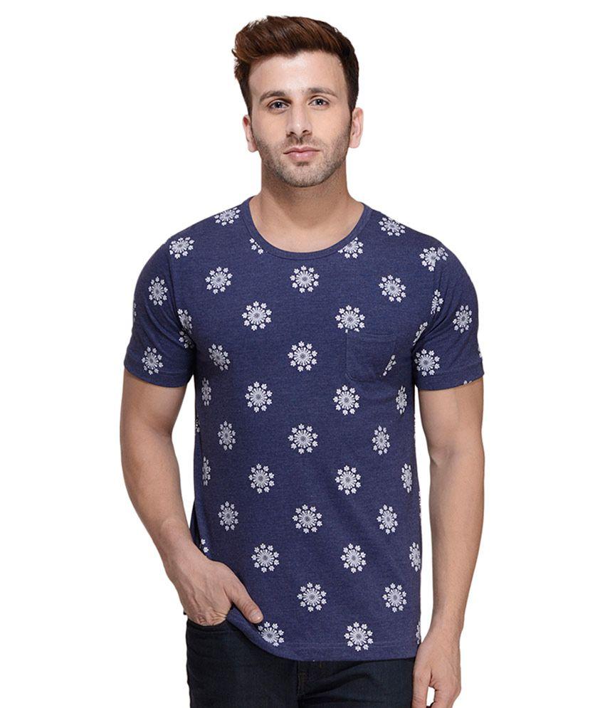Rigo Blue Round T Shirt