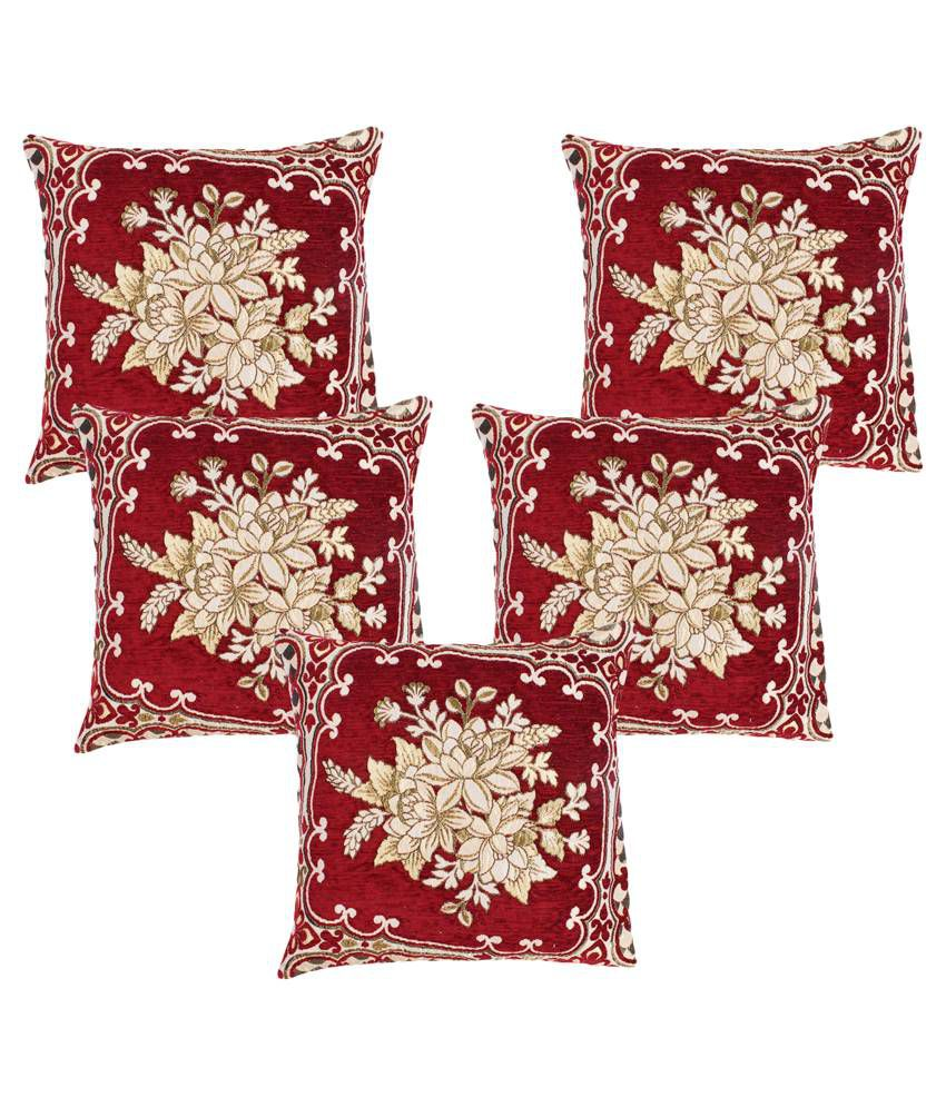 A.P. Handloom Set of 5 Polyester Cushion Covers