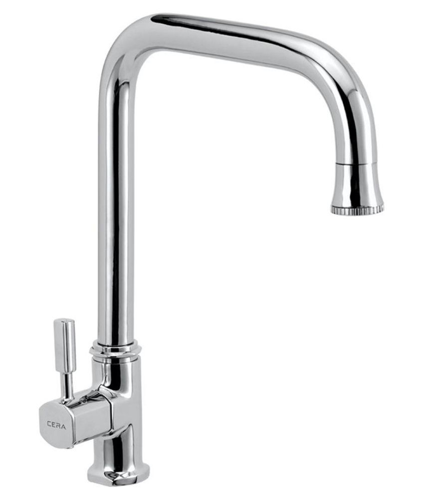 buy cera silver kitchen sink tap cs 1420 online at low price in rh snapdeal com