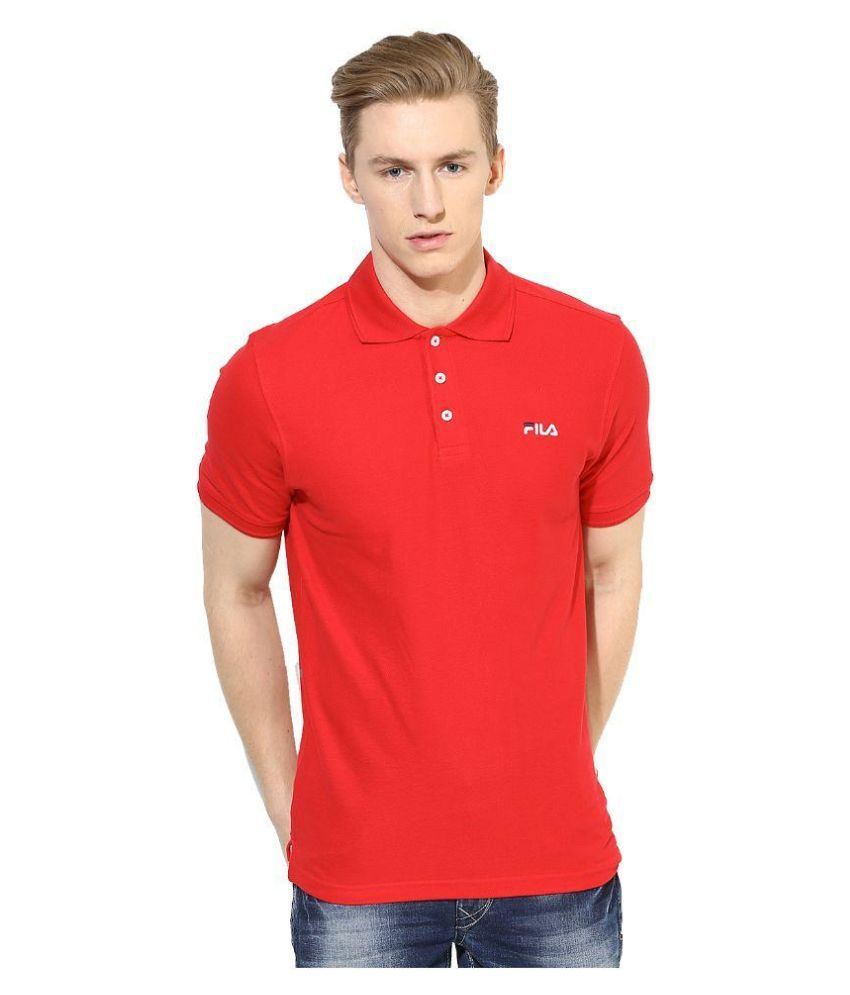 Fila Red Polo T Shirts