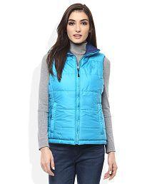 Woodland Multi Color Regular Collar Sleeveless Reversible Jackets