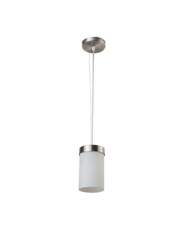 Learc Designer Lighting White Gl Metal Pendant Single Hanging Light At Best
