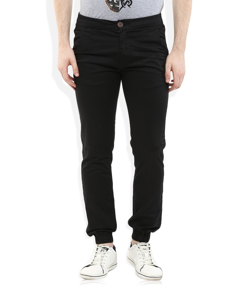 Spykar Black Slim Fit Jogger