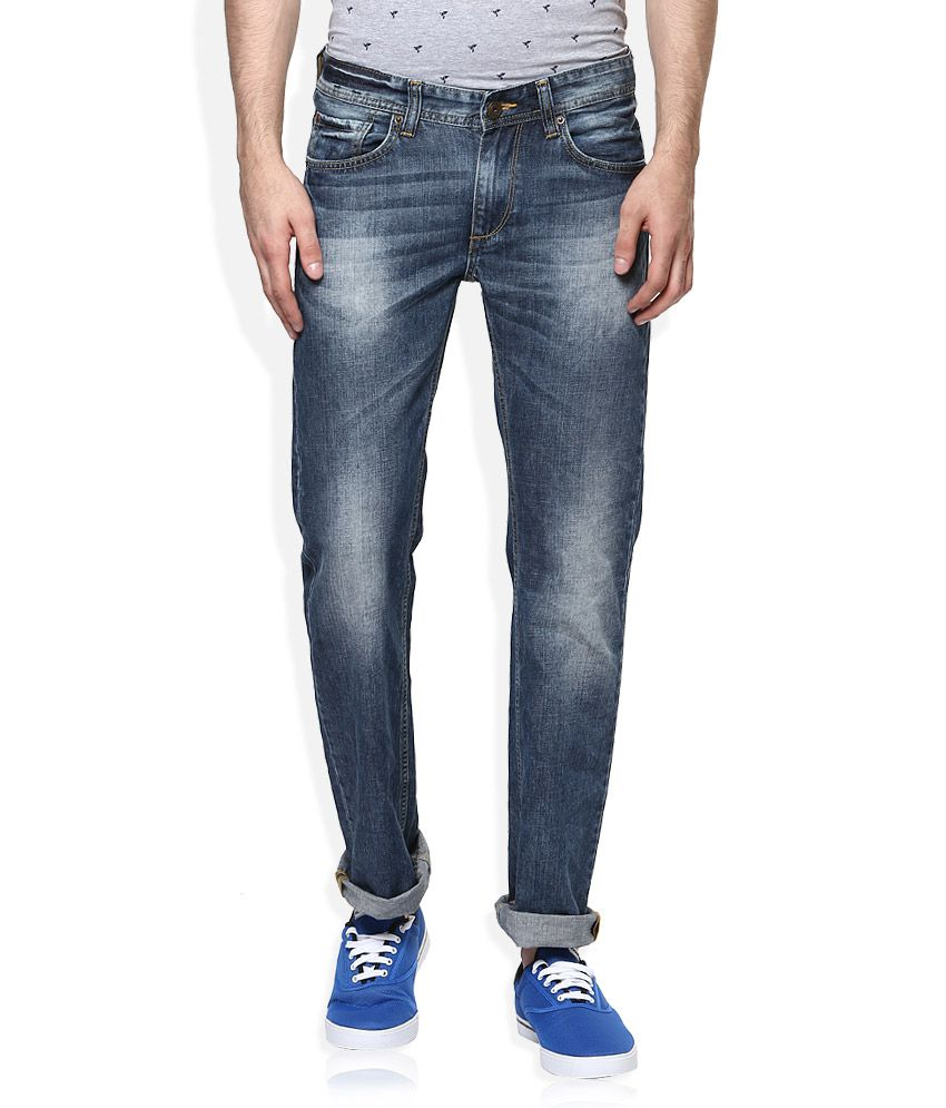 Spykar Blue Relaxed Jeans