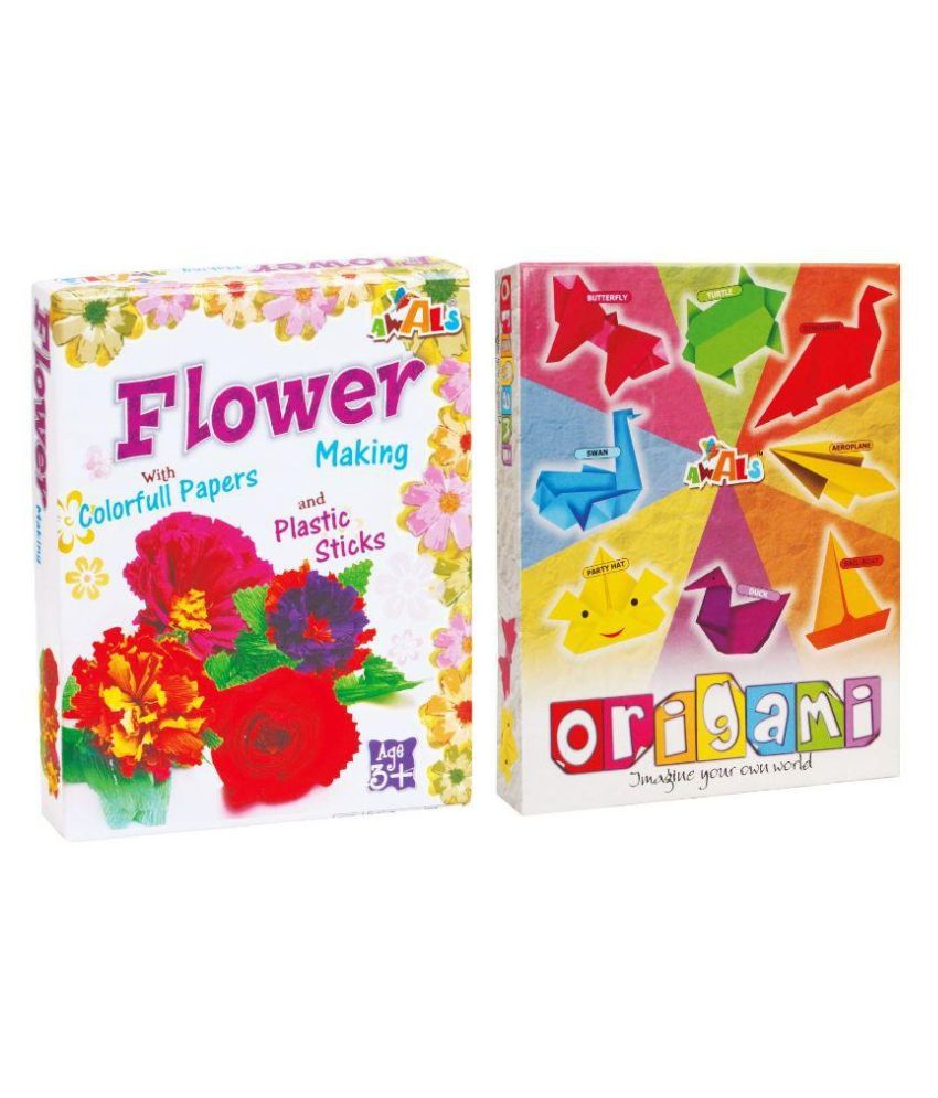 Awals Creations Multicolour Flower Making And Origami Activity Set