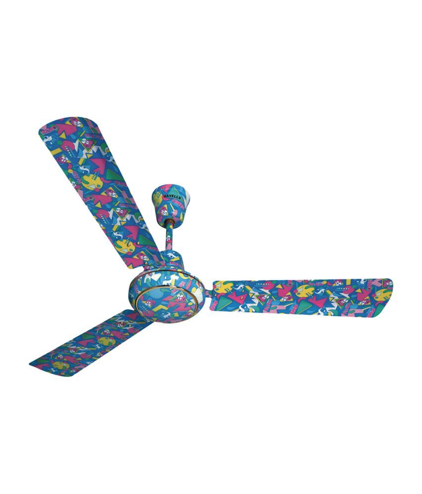 Havells 1200 mm candy ceiling fan funky blue price in for Funky ceiling fans