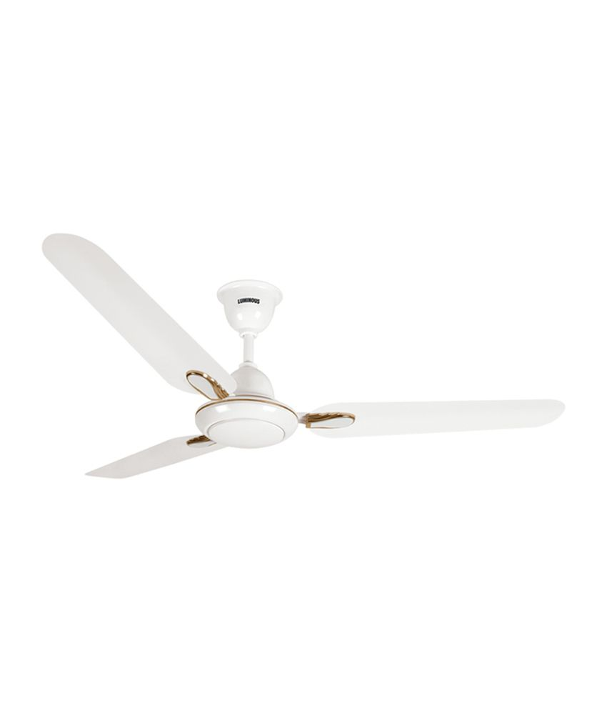 Luminous 1200 mm dhoom ceiling fan white price in india buy luminous 1200 mm dhoom ceiling fan white aloadofball Images