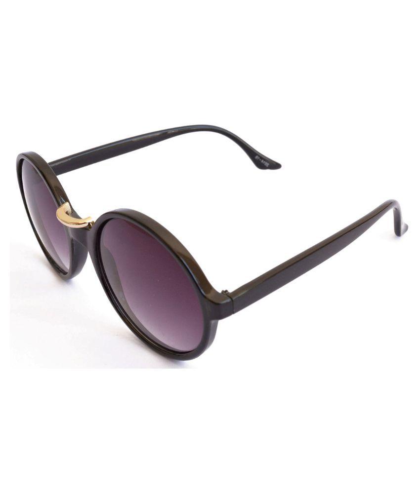 Sunrayz Purple Round Sunglasses ( SlimRound )