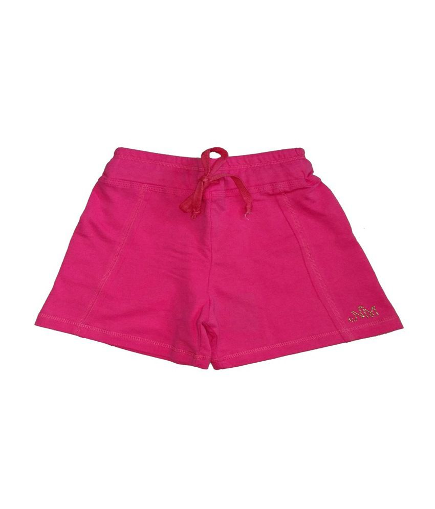 Titrit Pink Viscose Shorts for Girls