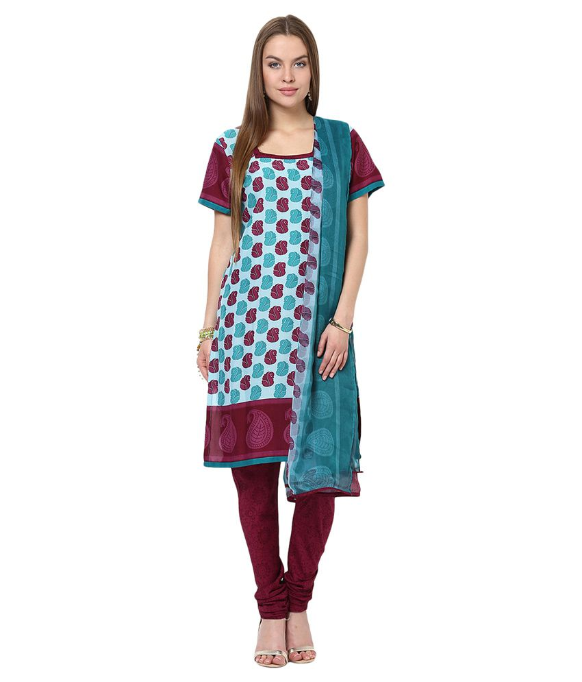 Yepme Multicoloured Blended Straight Fit Salwar Suit