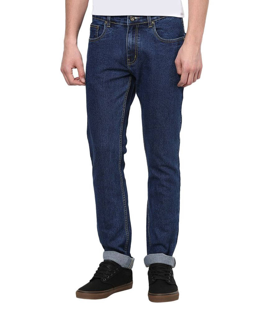 Jovial Mart Store Blue Skinny Fit Solid Jeans