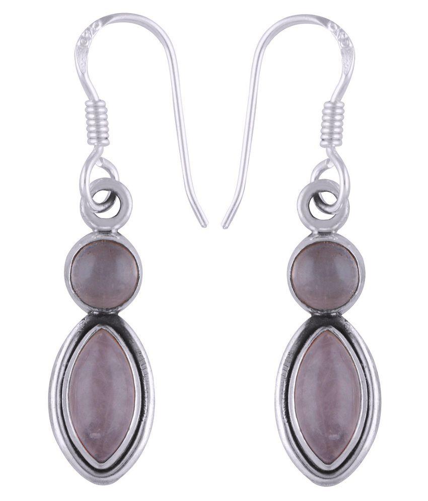 Silver Prince 92.5 Silver Rose Quartz Hangings