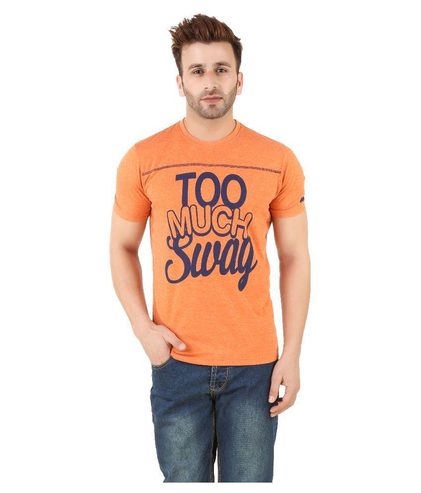 Spunk Orange Round T Shirt