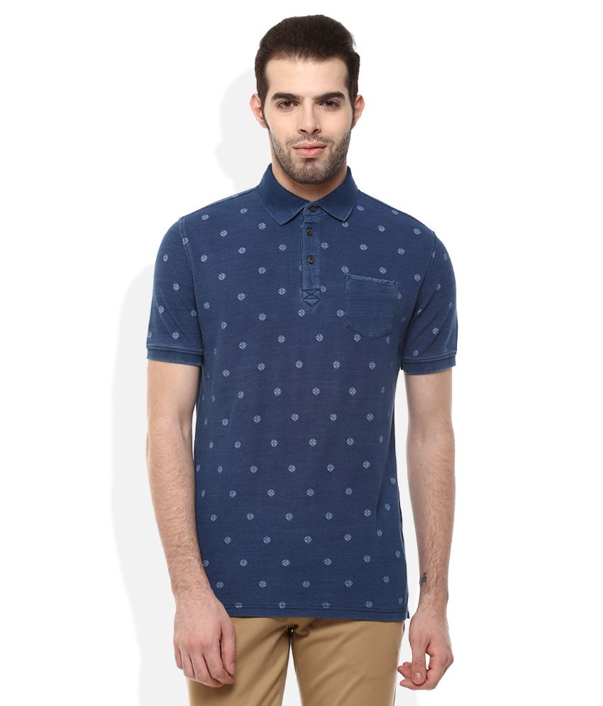 celio navy polo neck t shirt buy celio navy polo neck t shirt online at low price. Black Bedroom Furniture Sets. Home Design Ideas