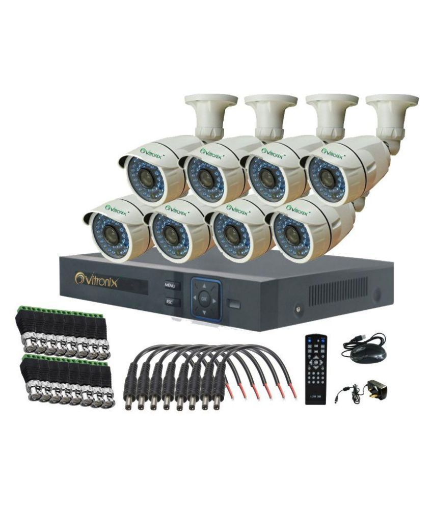 Ovitronix OVI-8CH-AHD-B8-36 8-Channel Dvr (with 8 1.3MP/36IR AHD Bullet Cameras)