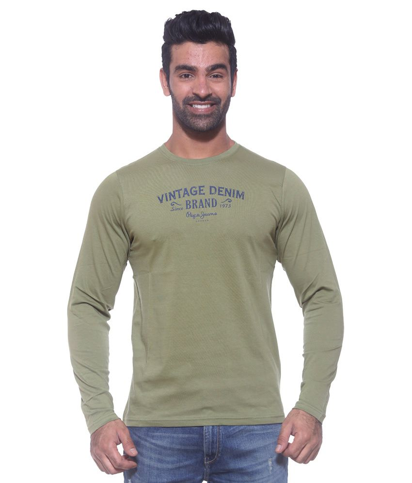 Pepe Jeans Green Round Neck T Shirt