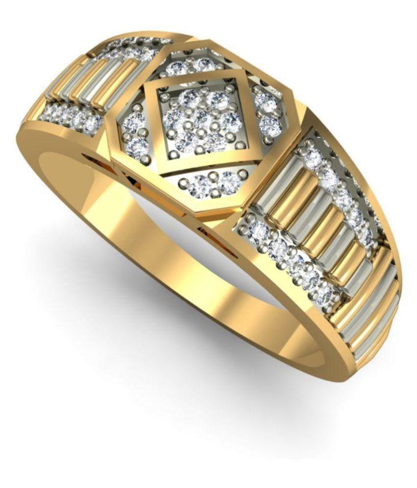 Rasav Jewels 14Kt BIS Hallmarked Diamond Ring