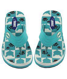 Beanz Turquoise Flip Flops