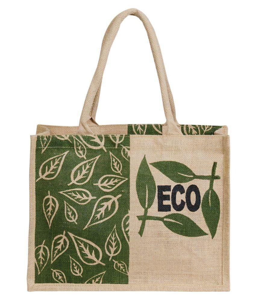 Allure Design Khaki Shopping Bags