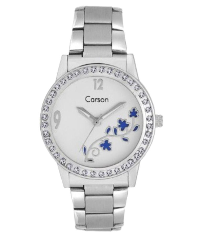 Carson Silver Analog Watch For Women