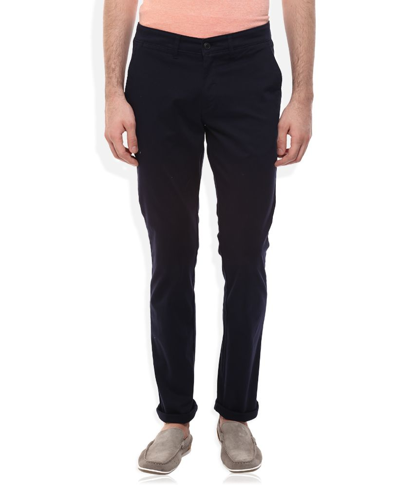 Celio Navy Regular Fit Trousers