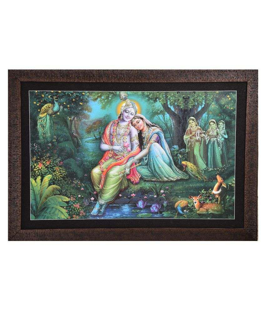 Gatts Radha Krishna Wooden Painting