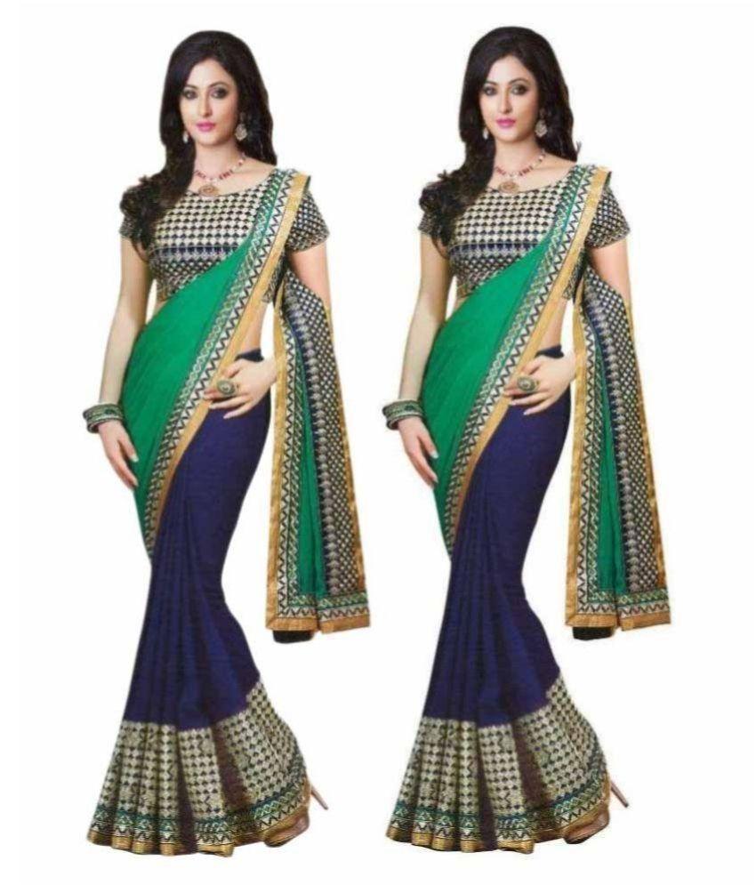 Giriraj Fashion Multicoloured Cotton Saree Combos