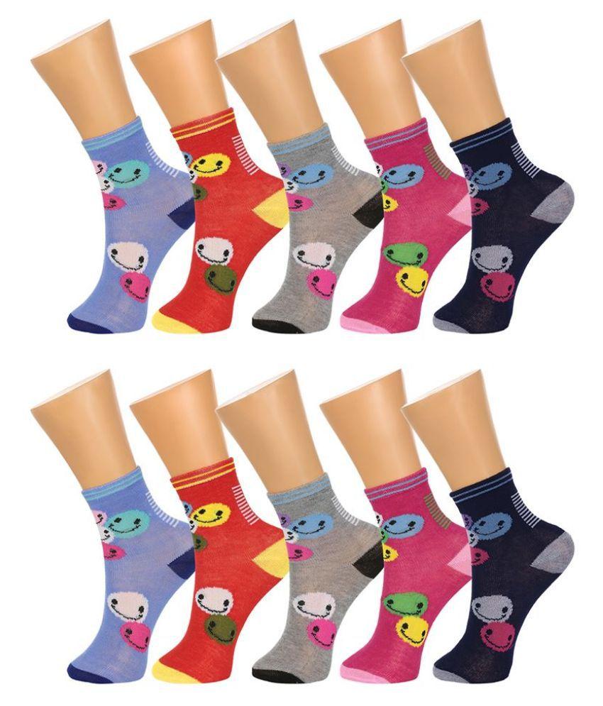 Gumber Multicolour Cotton Socks for Women - 6 Pair Pack