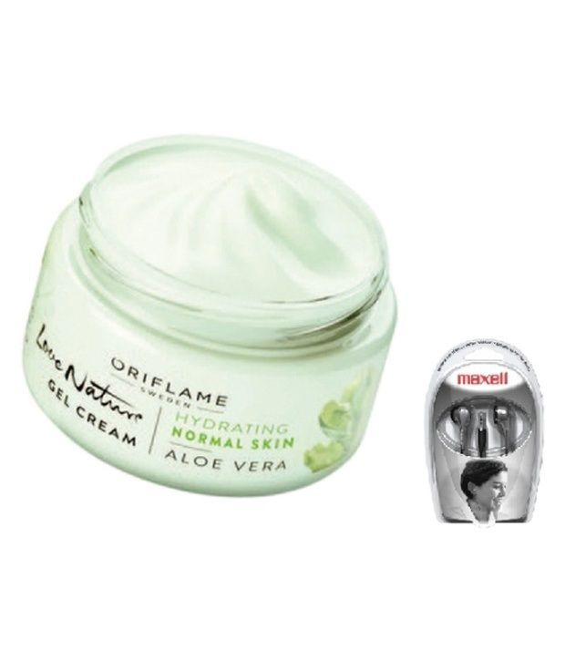 oriflame love nature gel cream aloe vera 32407 with maxell earbuds