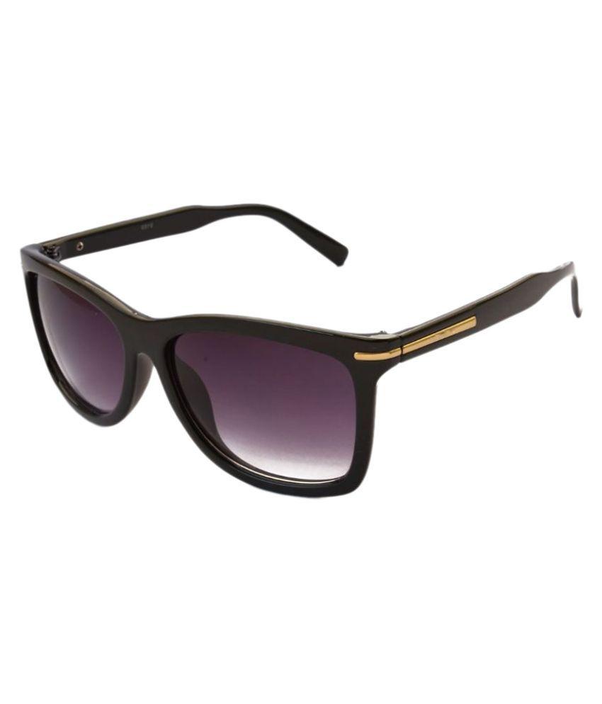 Pumawrap Black Wayfarer Sunglasses ( PrLineB1 )