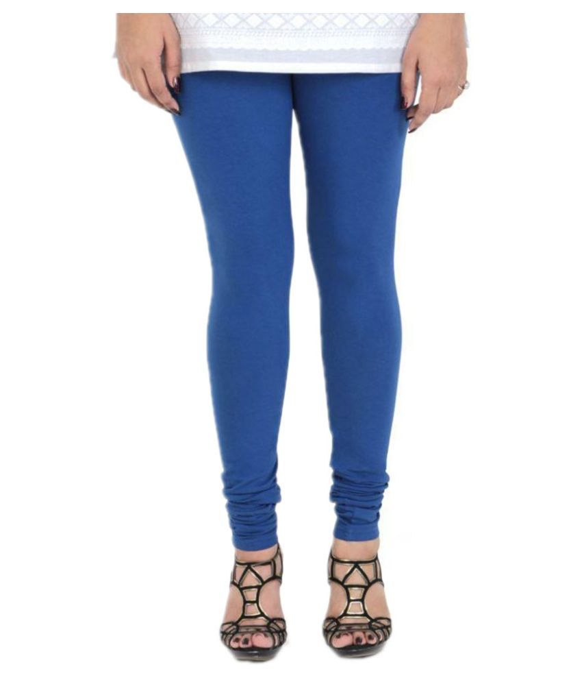 Vami Spanish Blue Cotton Leggings