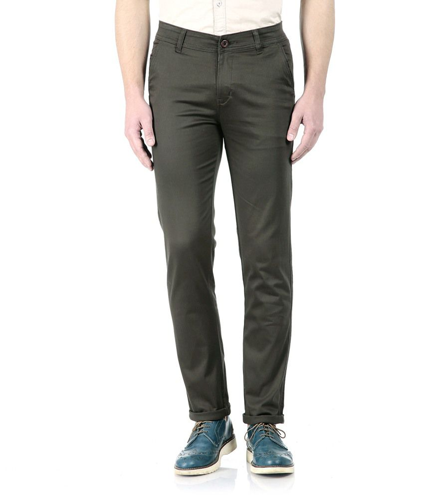 Flyjohn Grey Slim Chinos Trouser