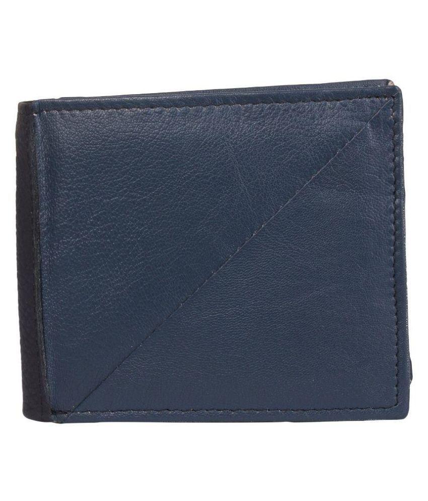 Euphoria Blue Leather Wallet for Men