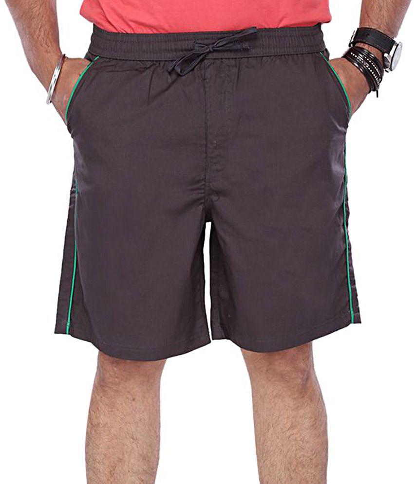 Vishal Brown Solids 3|4ths Shorts