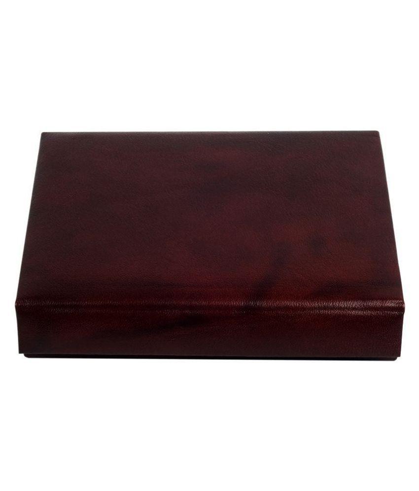 Zint Leather Studded Maroon Coloured Jewellery Box
