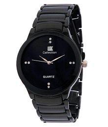 IIK Collection Black Analog Watch