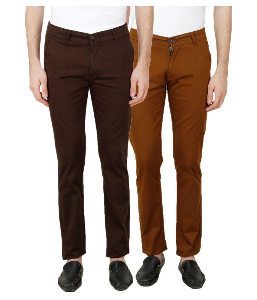Ansh Fashion Wear Multi Regular Fit Chinos