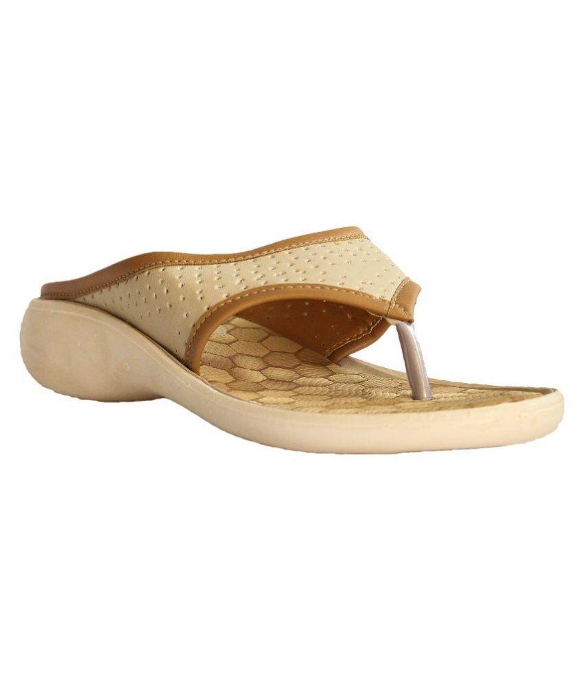 Hansx Beige Slippers