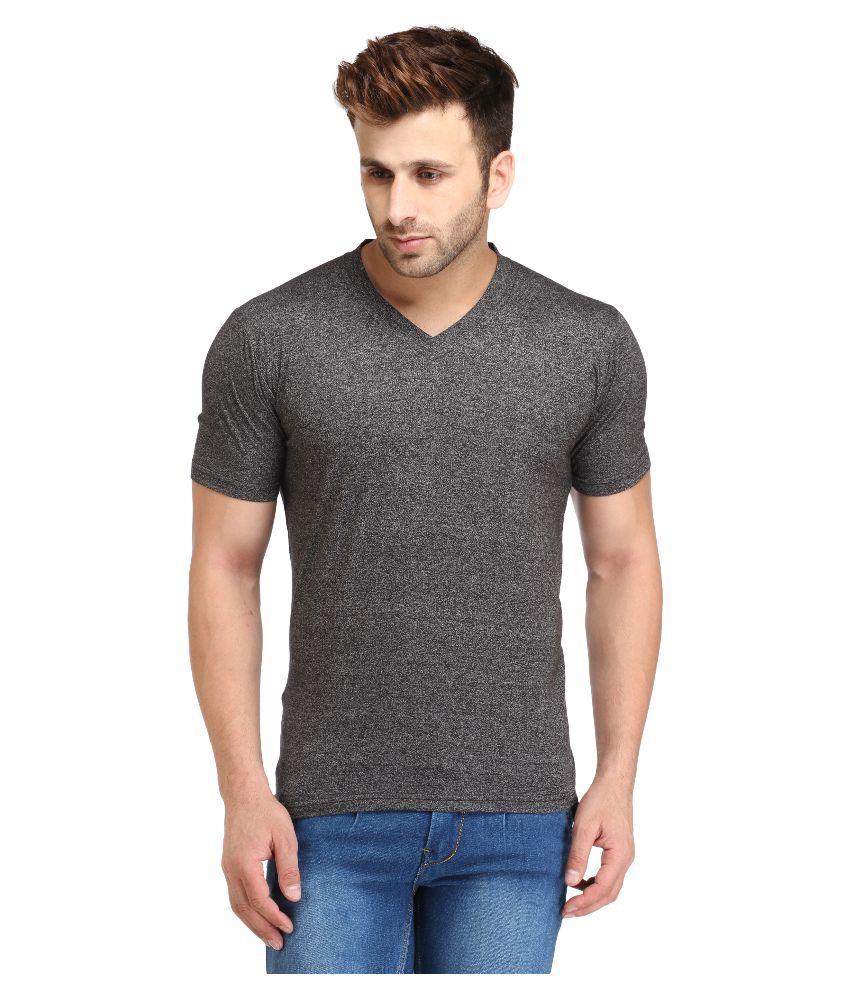 Leana Grey V-Neck T Shirt Hand Wash, Dry in Shade, Soft Iron