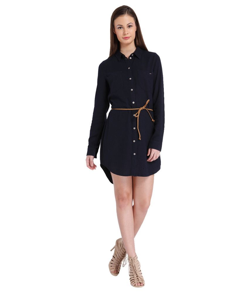 3602d4f88ad ONLY Navy Blue Shirt Dress available at SnapDeal for Rs.1347