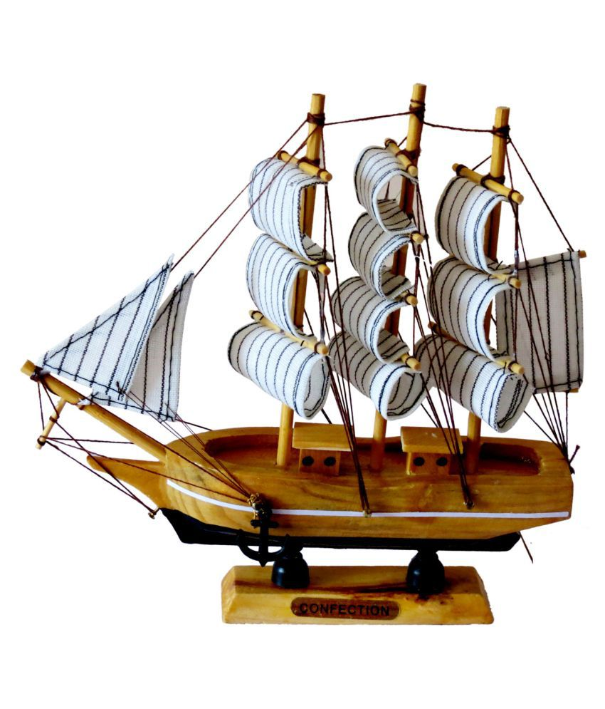 Vap mart wooden home decor ship showpiece buy vap mart for Ship decor home