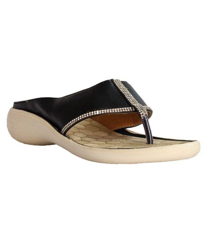 Hansx Black Slippers
